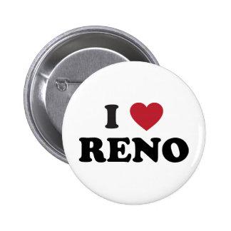 I Love Reno Nevada Pinback Button