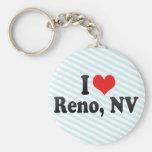 I Love Reno, NV Basic Round Button Keychain