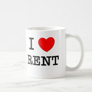 I Love Rent Coffee Mug
