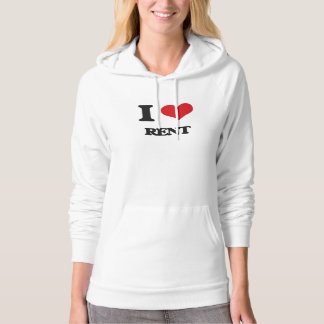 I Love Rent Hooded Pullover
