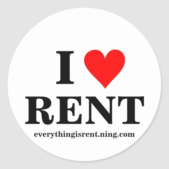I Love RENT Sticker