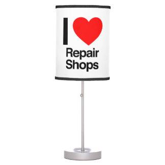 i love repair shops table lamp
