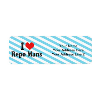 I Love Repo Mans Return Address Label