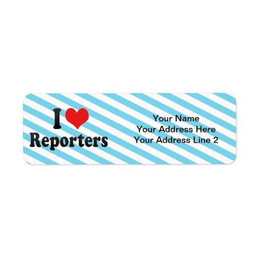 I Love Reporters Custom Return Address Label