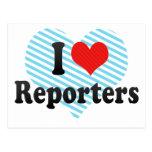 I Love Reporters Postcard