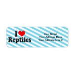 I Love Reptiles Return Address Label