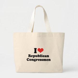 I LOVE REPUBLICAN CONGRESSMEN - .png Jumbo Tote Bag