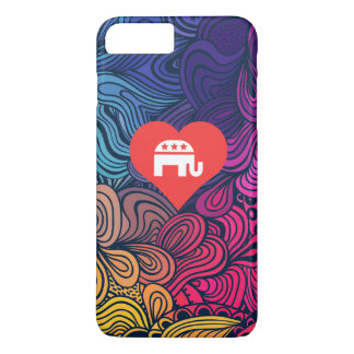 I Love Republican Party Cool Symbol iPhone 8 Plus/7 Plus Case