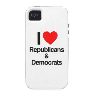 i love republicans and democrats iPhone 4/4S covers