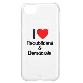 i love republicans and democrats case for iPhone 5C