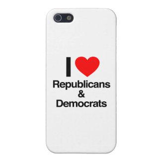 i love republicans and democrats iPhone 5 cover