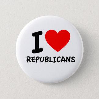 I Love Republicans Button