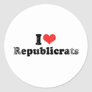 I LOVE REPUBLICRATS.png Round Sticker