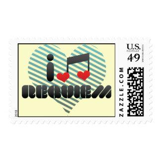 I Love Requiem Postage Stamp
