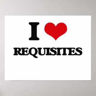 I Love Requisites Poster