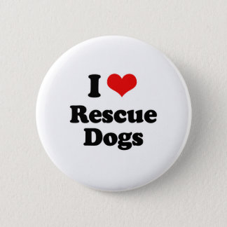 I Love Rescue Dogs Pinback Button