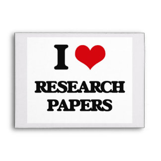 I Love Research Papers Envelope