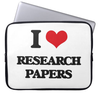 I Love Research Papers Laptop Computer Sleeve