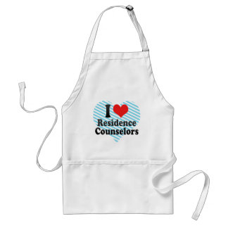 I Love Residence Counselors Apron