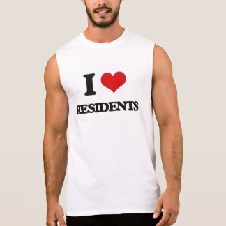 I Love Residents Sleeveless Shirts