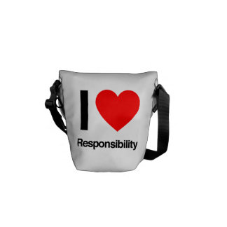 i love responsibility courier bags
