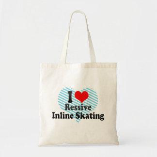 I love Ressive Inline Skating Budget Tote Bag