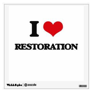 I Love Restoration Room Sticker