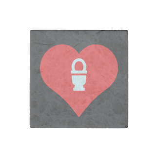 I Love restrooms Stone Magnet