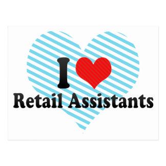 I Love Retail Assistants Postcard