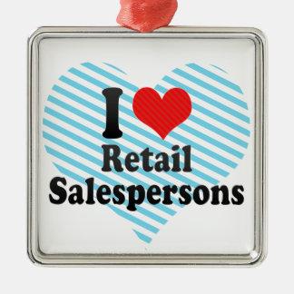 I Love Retail Salespersons Ornament