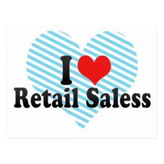 I Love Retail Saless Postcards