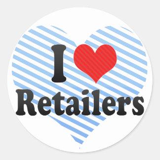 I Love Retailers Sticker