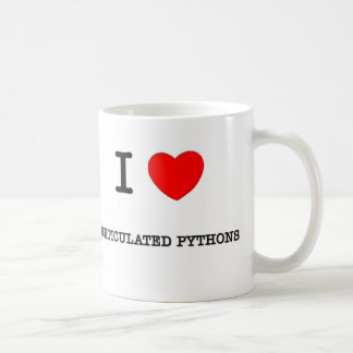 I Love RETICULATED PYTHONS Classic White Coffee Mug