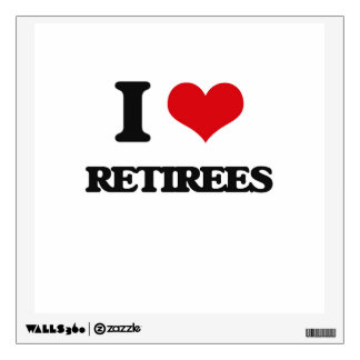 I Love Retirees Wall Decal