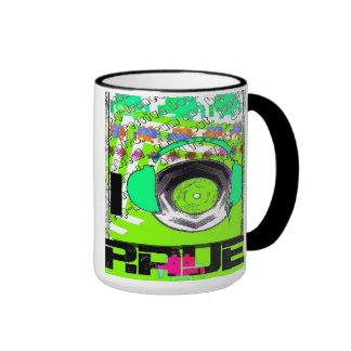 I Love retro Rave mug