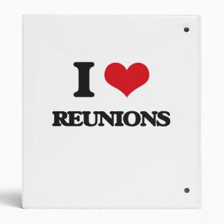 I Love Reunions Vinyl Binder