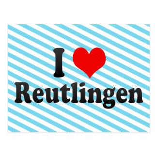 I Love Reutlingen, Germany Postcard