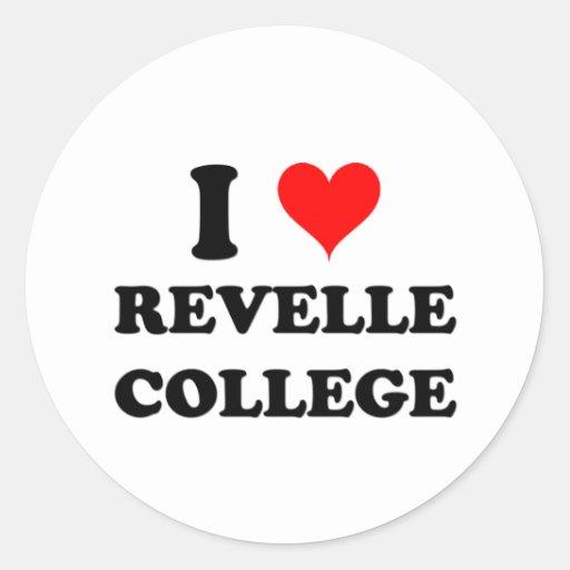 I Love Revelle College Classic Round Sticker