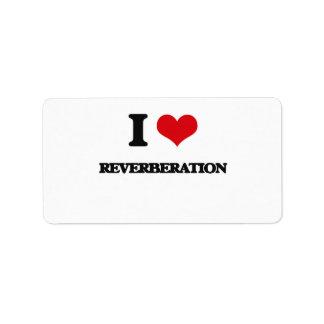 I Love Reverberation Custom Address Labels