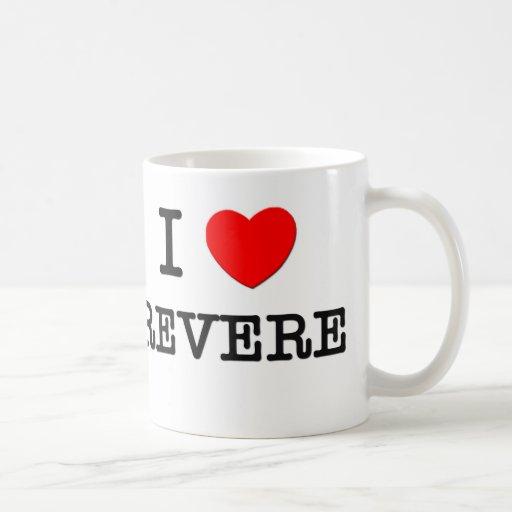 I Love Revere Massachusetts Coffee Mugs