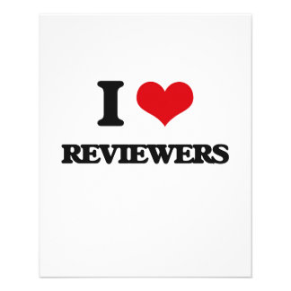 """I Love Reviewers 4.5"""" X 5.6"""" Flyer"""