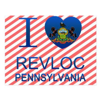 I Love Revloc, PA Postcard