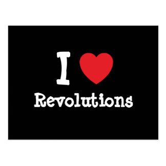 I love Revolutions heart custom personalized Postcard