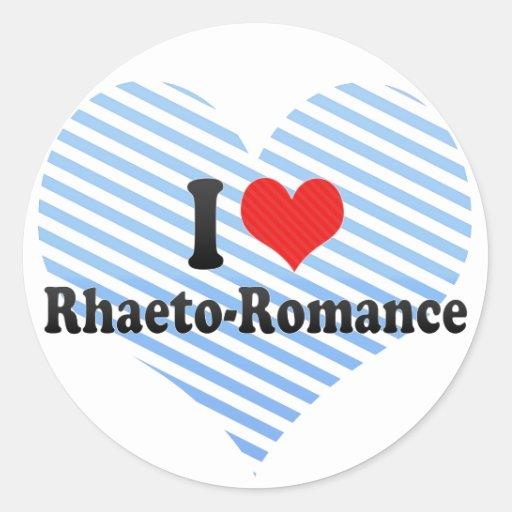 I Love Rhaeto-Romance Stickers
