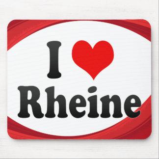 I Love Rheine Germany Ich Liebe Rheine Germany Mouse Pad