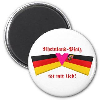 I Love Rheinland-Pfalz ist mir lieb Refrigerator Magnet