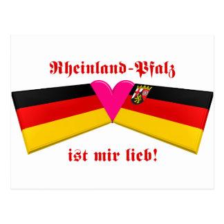 I Love Rheinland-Pfalz ist mir lieb Postcard