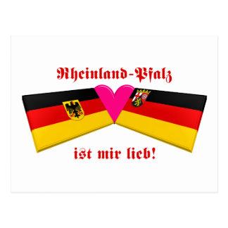 I Love Rheinland-Pfalz Postcard