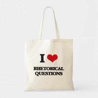 I Love Rhetorical Questions Canvas Bag