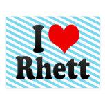 I love Rhett Postcard
